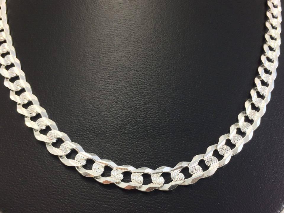 97bfc94e3086 cadena de plata 925 tejido cubano doble vista. Cargando zoom.