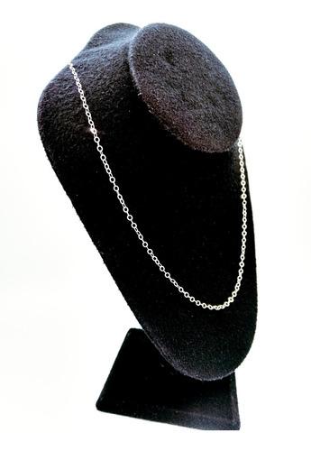 cadena de plata 925 tejido glotto mujer hombre unisex 50cm
