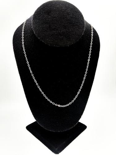 cadena de plata 925 tejido glotto mujer hombre unisex 55cm