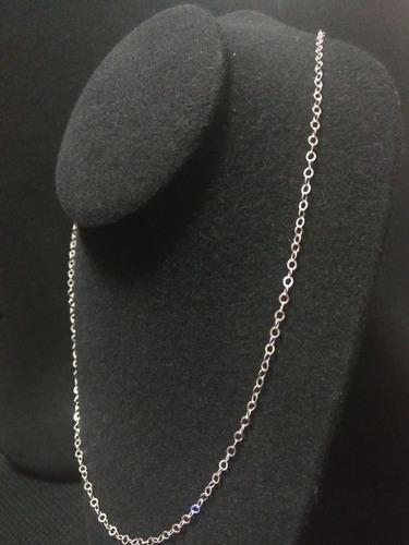 cadena de plata 925 tejido glotto mujer hombre unisex 60cm