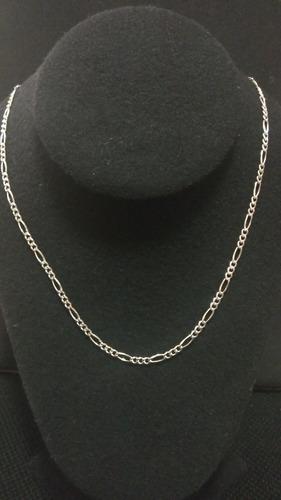 cadena de plata fina 925 3*1 unisex hombre mujer 46cm