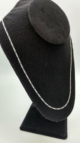 cadena de plata fina 925 dama tejido 3*1 para mujer 45cm