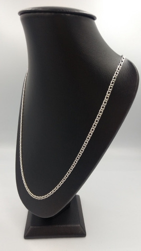 cadena de plata fina 925 dama tejido doble para mujer 45cm