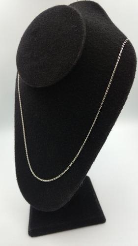 cadena de plata fina 925 dama tejido éxito para mujer 60cm