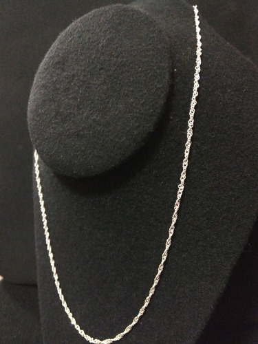 cadena de plata fina 925 dama torsal torzal para mujer 55cm