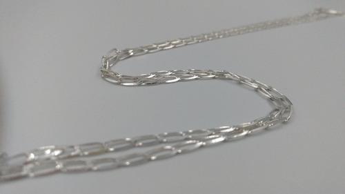 cadena de plata fina .925 exito mujer hombre unisex 60cm 3mm