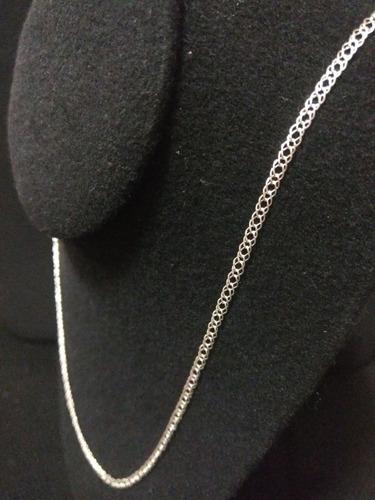 cadena de plata fina 925 tejido doble - unisex hombre mujer