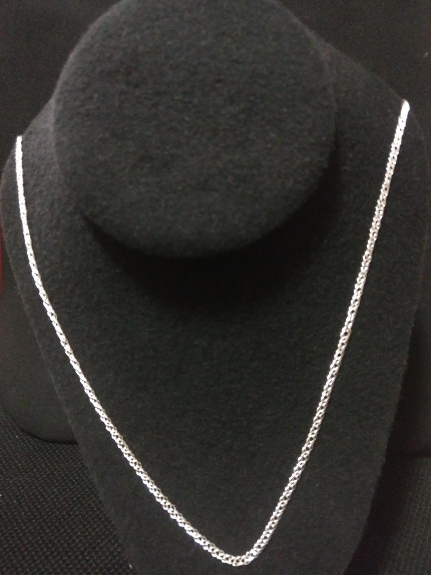 cadena de plata fina 925 tejido doble unisex hombre mujer