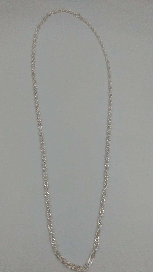 74e2a75a1d70 cadena de plata fina 925 torzal 60cm 3mm unisex mujer hombre. Cargando zoom.