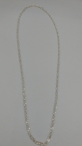 cadena de plata fina 925 torzal 60cm 3mm unisex mujer hombre