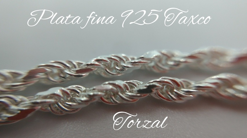 d113b33330c9 cadena de plata fina .925 torzal torsal dama para mujer 50cm. Cargando zoom.