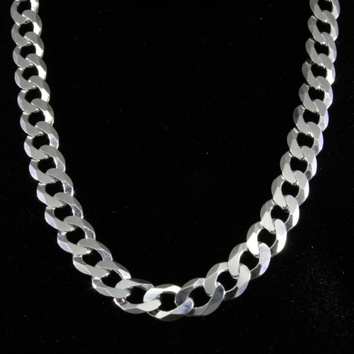 cadena de plata  hombre modelo grumet