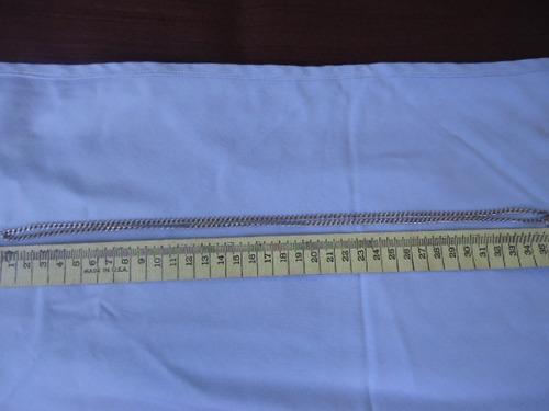 cadena de plata ley 925 16.1 gr. 36 cm