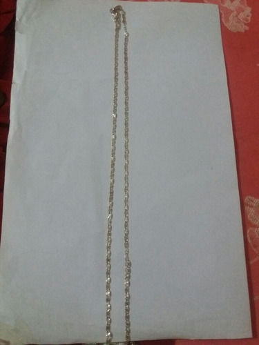cadena de plata ley 925. tejido chino. mide 46 cm