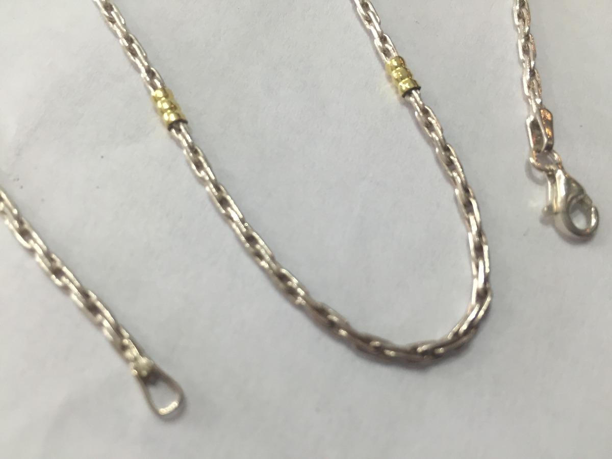 a8714b3910f8 cadena de plata y oro 50cm. Cargando zoom.