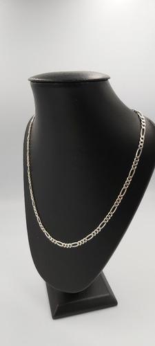 cadena de pura plata fina .925 tejido 3*1 65cm x 3mm unisex