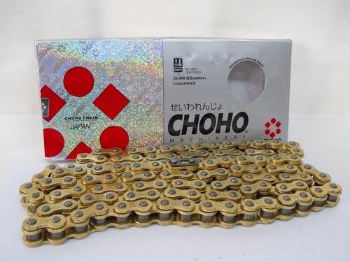 cadena de transmision choho paso 428 dorada 118l yuhmak
