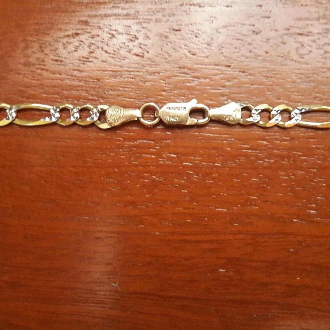 2e5fe685c6fd cadena diamantada oro italiano 14k. Cargando zoom.