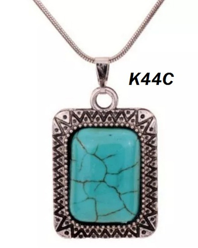 cadena + dije en plata tibetana (k44c