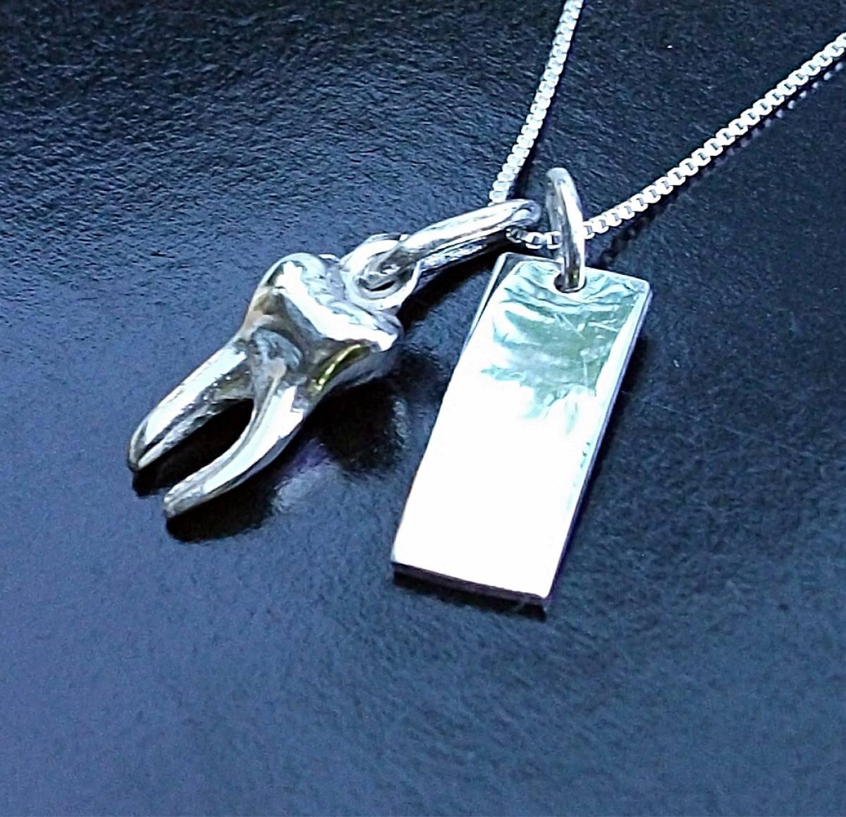 c727a81a604b cadena + dije muela mini + placa personalizada plata ley. Cargando zoom.