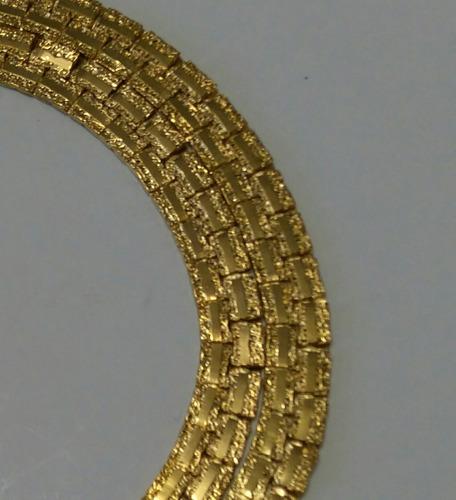cadena doble oro laminado italiano 14 k c/envío +1regalo