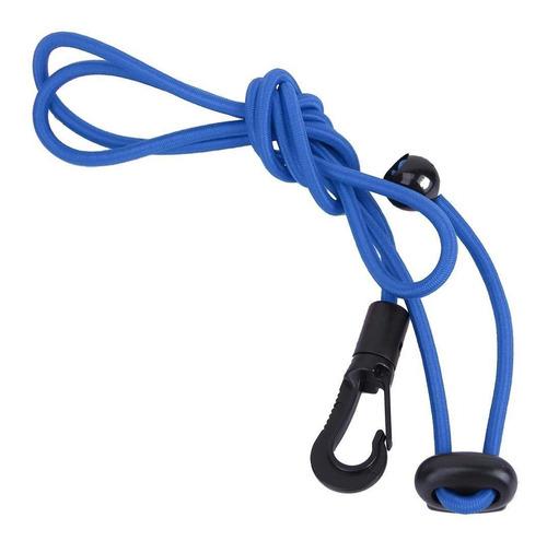 cadena elástica de 120 cm con mosquetón para remo (azul)