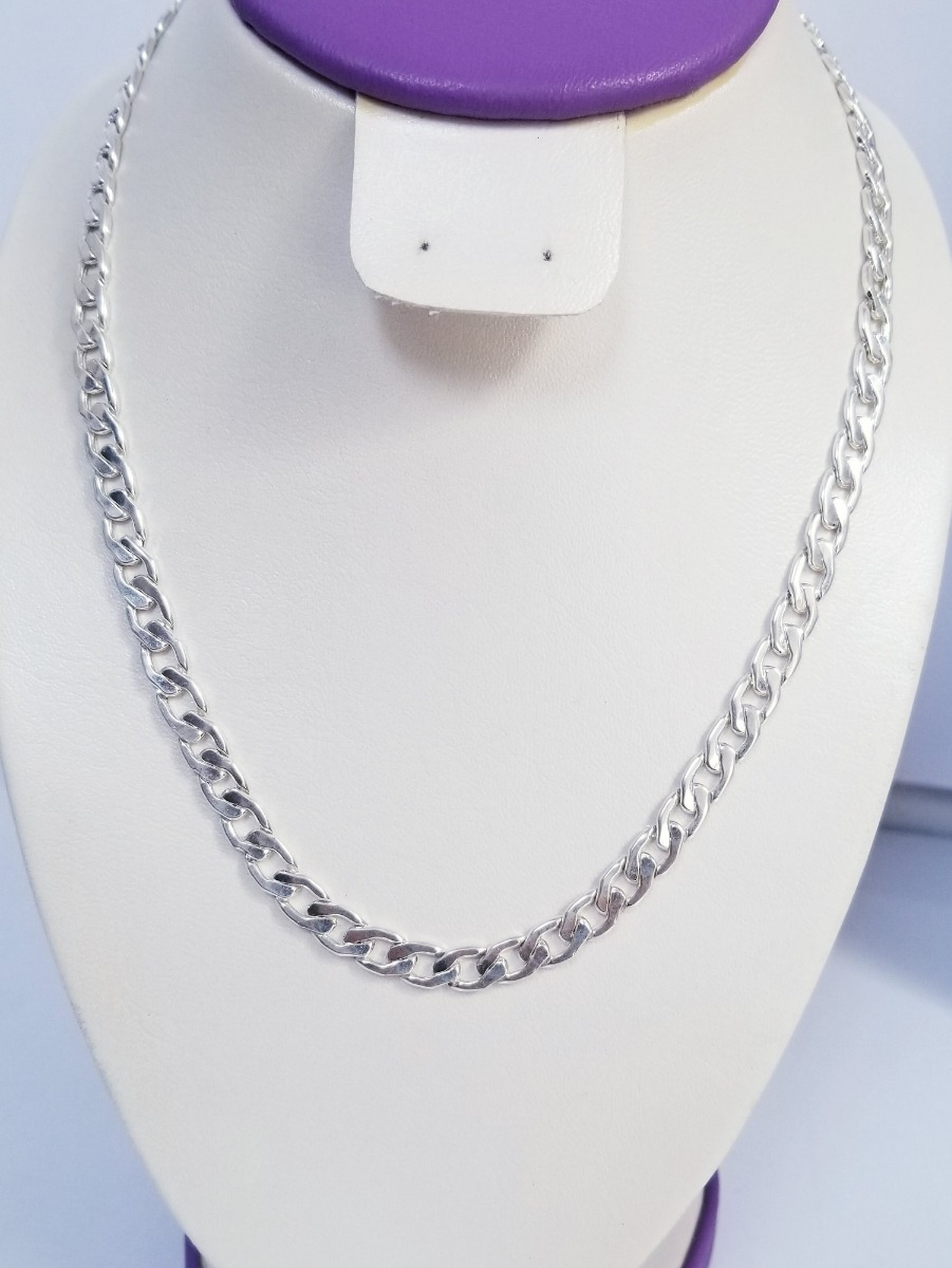 ee947f3cf949 cadena en plata 950 modelo hexagonal plana de 36.3 gramos (6. Cargando zoom.