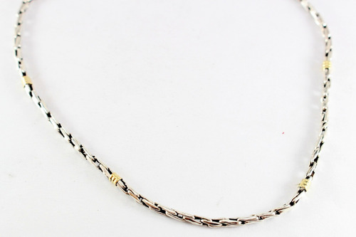 cadena espiga  n°1 plata 925 oro 18k 55/60 cm.promo garantía