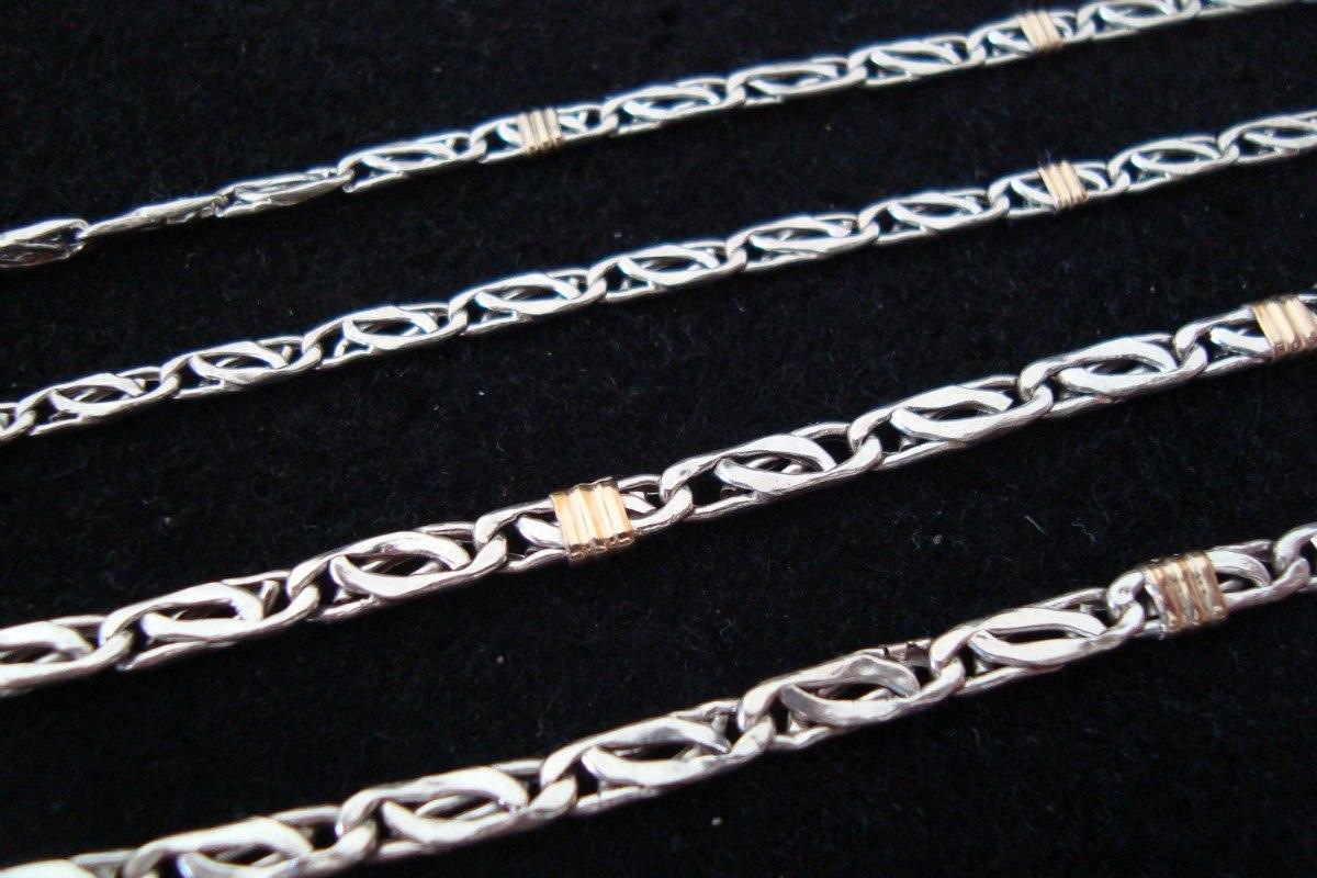 d54e05147323 cadena espiga parís plata maciza 925 y oro! hombre unisex. Cargando zoom.