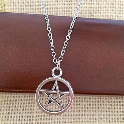 cadena estrella 5 puntas wicca supernatural pentagrama