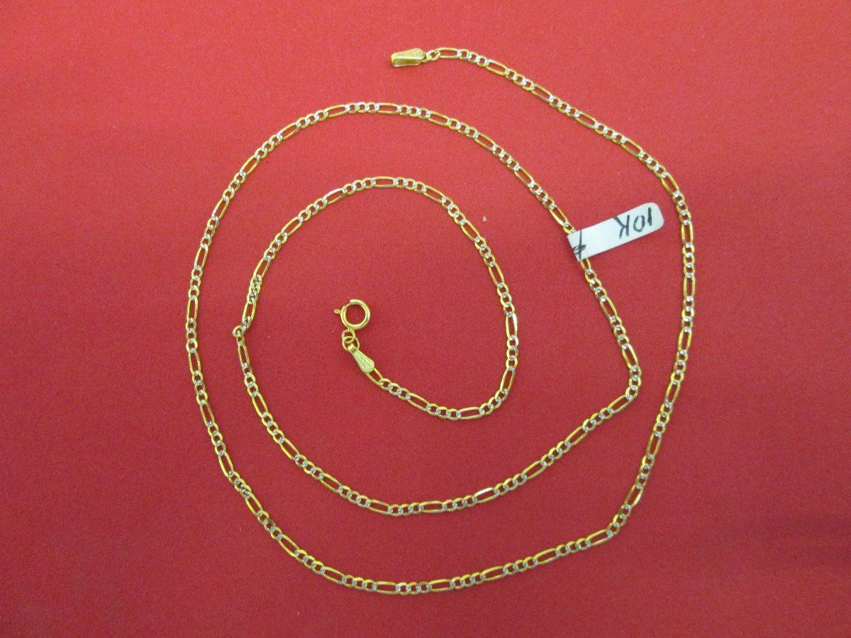 5a345ed049c5 cadena fígaro diamantada oro solido 10 kilates 2 mm y 40 c. Cargando zoom.