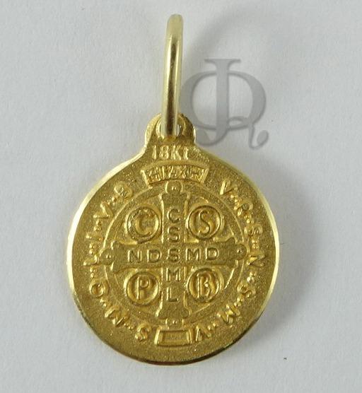 714d4af46db Cadena Forcet Y Medalla San Benito Oro 18k 2