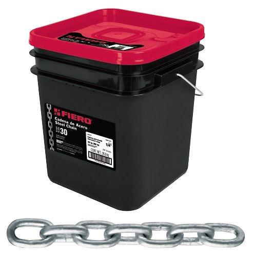 cadena galvanizada 3/8 pulgada 0.49mxkg balde 10mt fiero