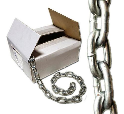 cadena galvanizada de 5mm en caja tramo de 25mts 12,5kg
