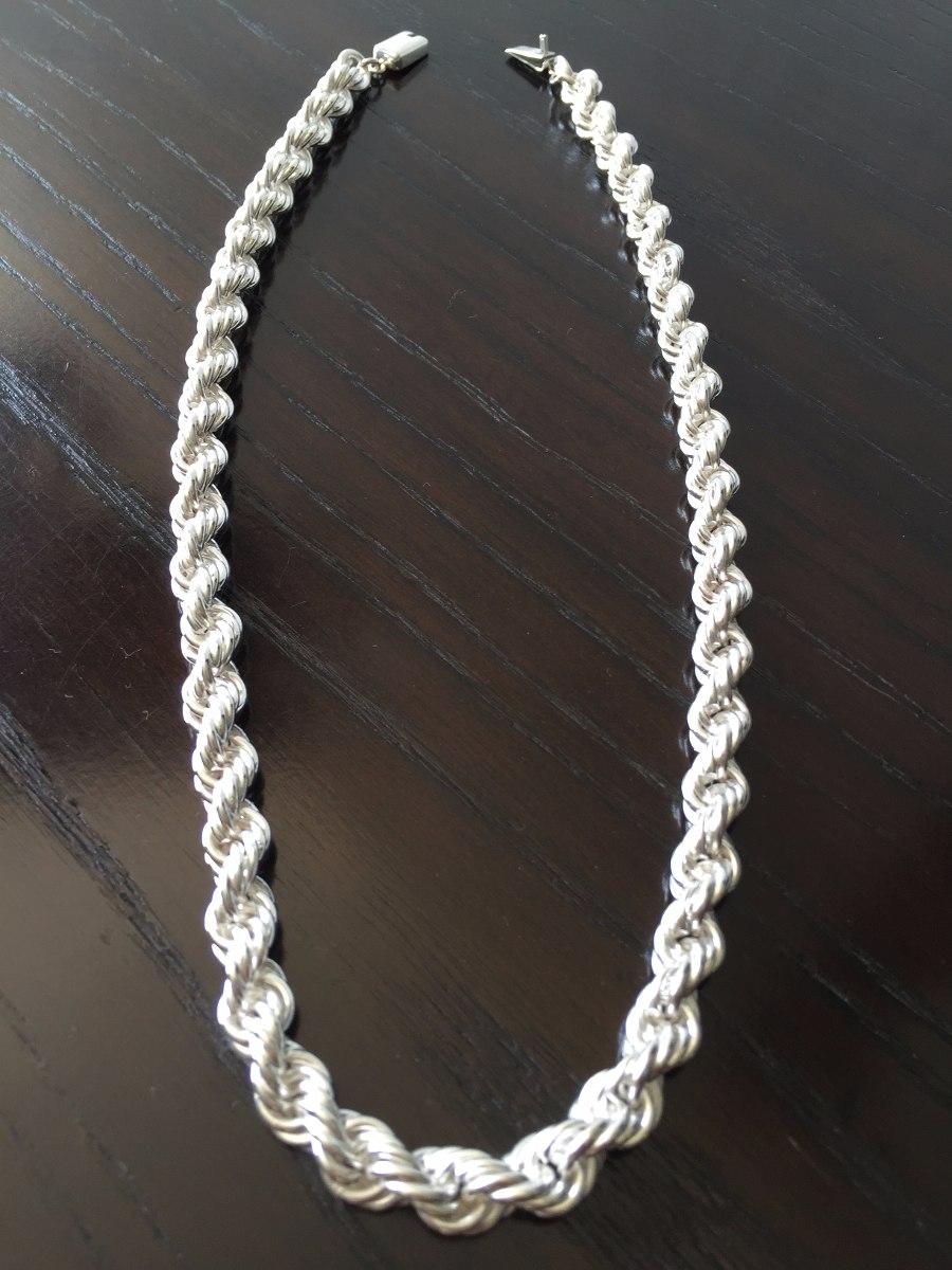 Cadena gruesa de plata ley 925 tipo torzal para caballero for Cuanto sale hacer una pileta de material 2016