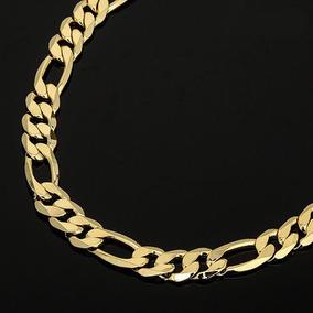 talla 40 b3f3c 3ebfa Cadena Gruesa Estilo Figaro De 60 Cm Laminada En Oro De 14k