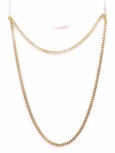 cadena grumet oro 18k 40 cm (c148)