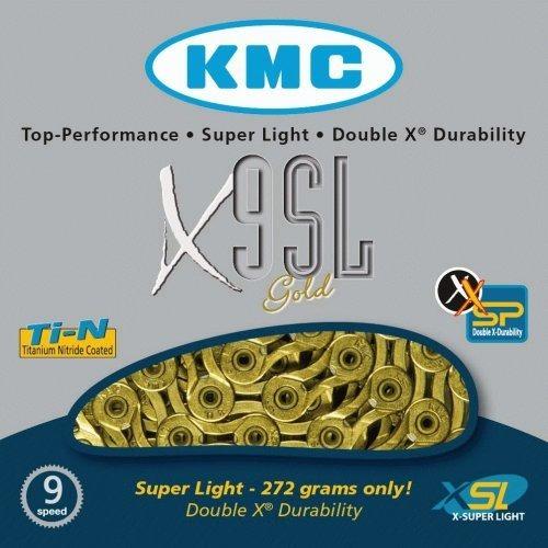 cadena kmc ultralight x9sl 1/2  x11/28 dorada