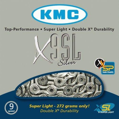 cadena kmc ultralight x9sl 1/2  x11/28 plata