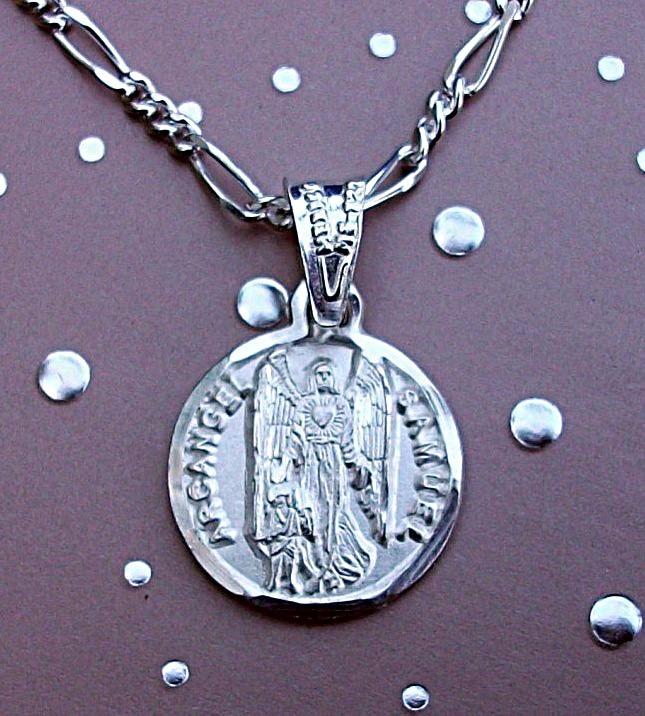 9151c97c275e Cadena + Medalla Dije Arcángel Miguel Personalizado Plata -   425.00 ...