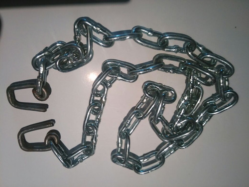 cadena metalica cromada para cinto porta peso con terminal