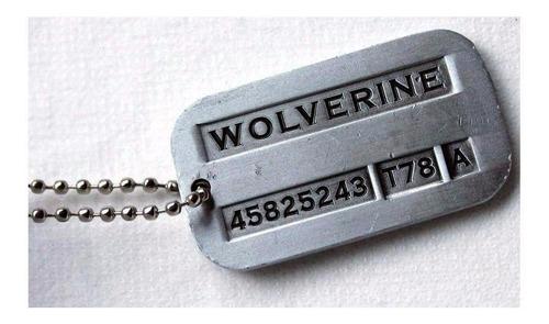 cadena militar collar de logan wolverine x-men original