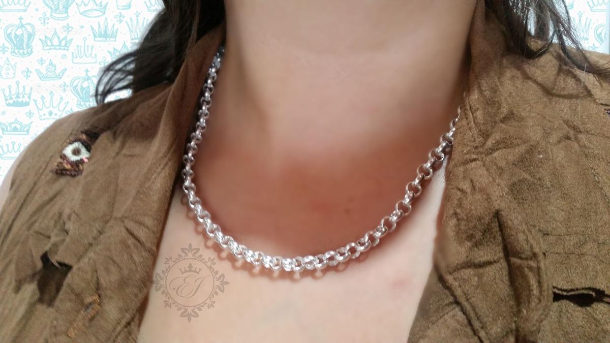 d44afc7a70a2 cadena mujer plata 925 rolo 9 mm gruesa regalo varios largos. Cargando zoom.
