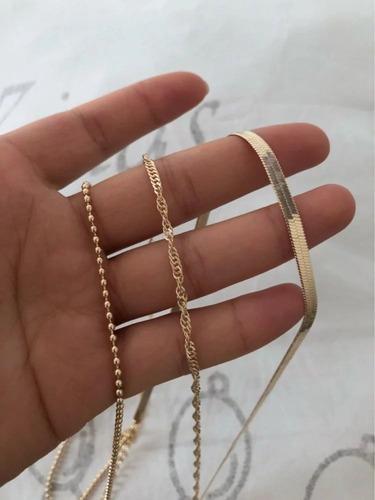 cadena multiple dama moda vintage bisuteria collar joyeria