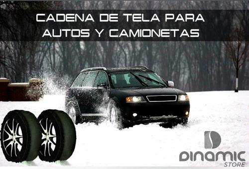 cadena nieve tela textil auto camioneta 4x4 p/ hilux amarok