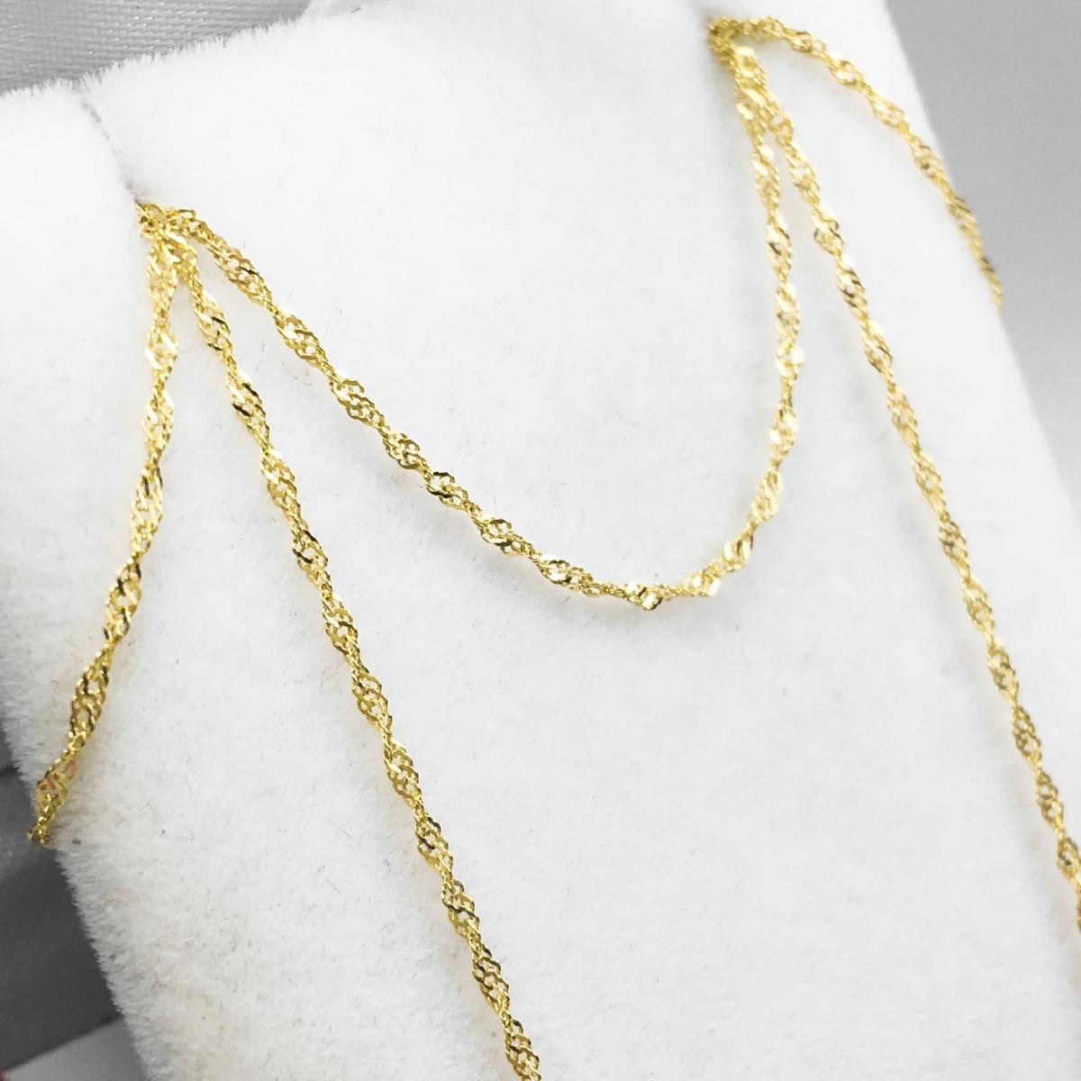 a04d01ef58f2 Cadena Oro 18 K Singapur 50cm 1gr Garantia Mujer Promo -   3.225