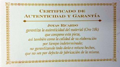 cadena oro 18k forcet 2grs 55cm hombre mujer garantia