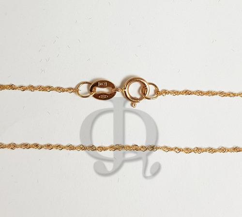 cadena oro 18k singapur 40cm o 45 cm mujer niña garantia co013