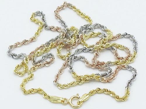 c9a50fc118b6 cadena oro amarillo blanco rosa 10k caballero cuerda 60cm. Cargando zoom.