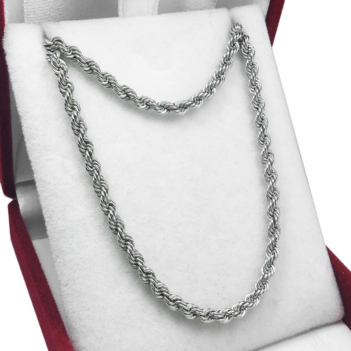mejor selección últimos diseños diversificados código promocional Cadena Oro Blanco 18k Soga Corta Mujer 40 Cm Gruesa
